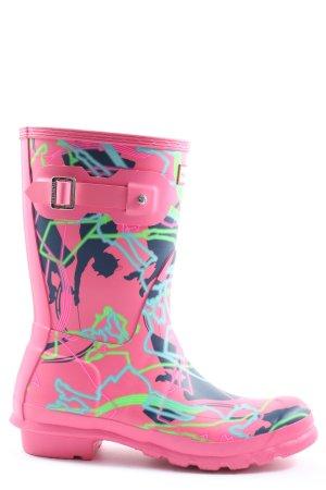 Hunter Gumowe buty Abstrakcyjny wzór W stylu casual