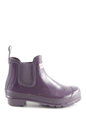 Hunter Botte en caoutchouc violet foncé style mode des rues