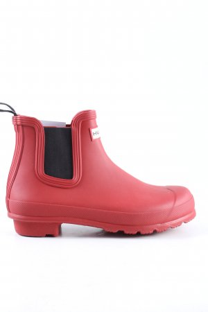 Hunter Gummistiefel rot-schwarz Casual-Look
