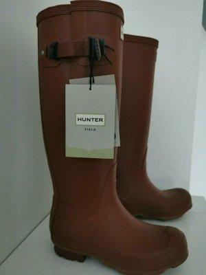 Hunter Gumowe buty brązowo-czerwony