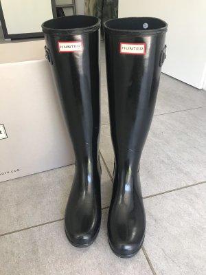 Hunter Wellington laarzen zwart