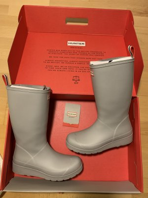 Hunter Wellies silver-colored