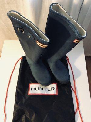 Hunter Stivale di gomma blu scuro