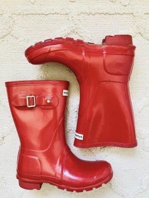 Hunter Stivale di gomma rosso-rosso mattone