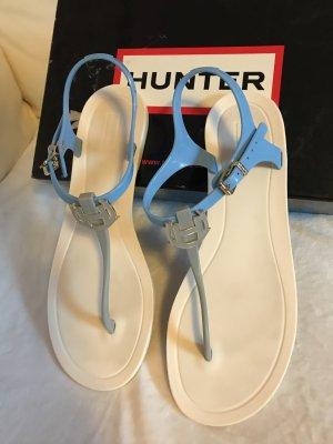 Hunter Sandalen Blauweiß Sehr bequem aus Gummi/PVC
