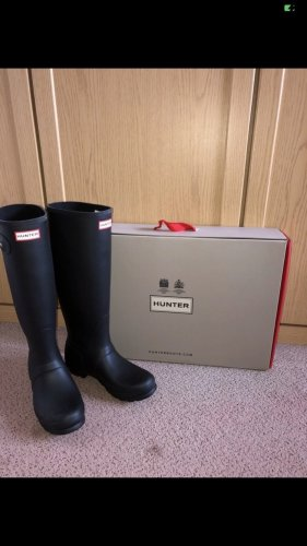 Hunter Wellies black-red