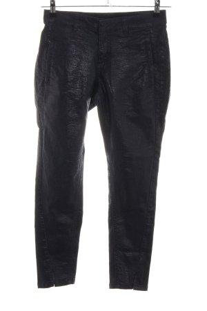 Hunter Pantalone elasticizzato nero stile casual