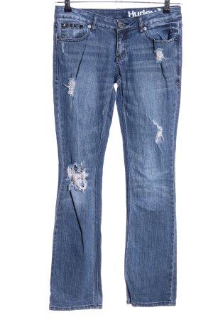 Hurley Jeans a gamba dritta blu stile casual