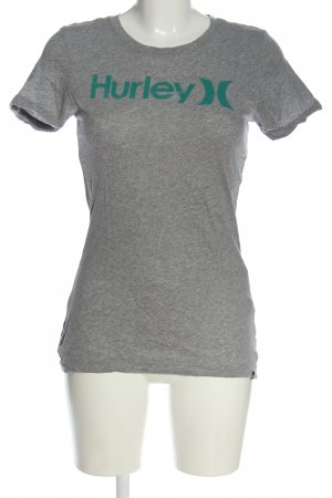 Hurley T-shirt grigio chiaro-turchese puntinato stile casual