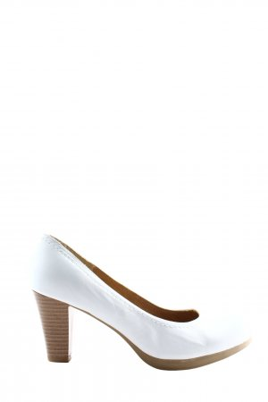 Hush Puppies High-Front Pumps white-brown business style