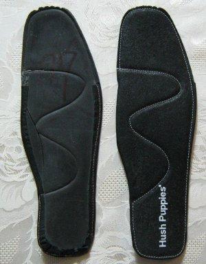 HUSH PUPPIES Leder Einlegesohlen Größe 40 Schwarz