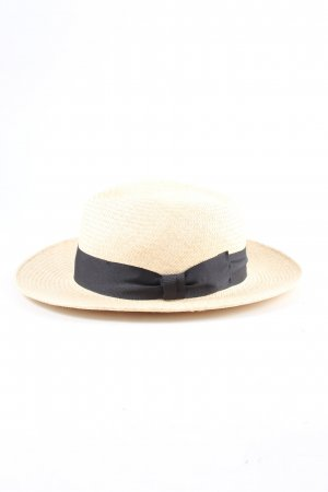 hush Straw Hat natural white graphic pattern casual look