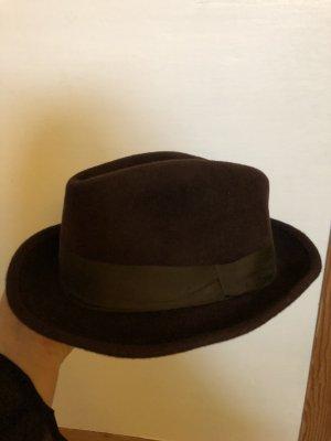 Cappello da caccia marrone scuro