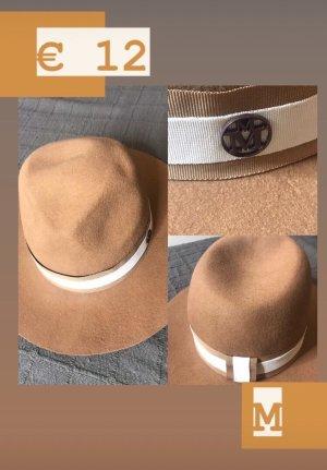 Wełniany kapelusz camel-beżowy