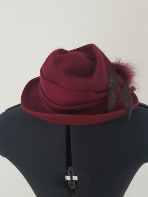 Felt Hat carmine mixture fibre