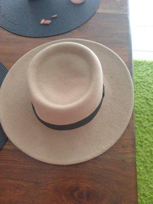 Accessoires Wełniany kapelusz czarny-jasnobrązowy