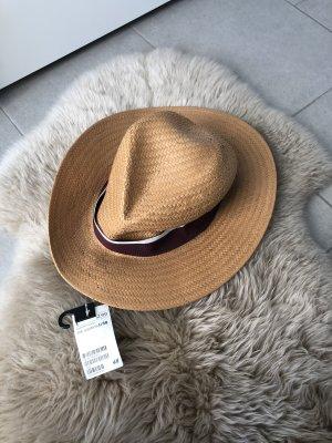 H&M Kapelusz słomkowy jasnobrązowy-beżowy