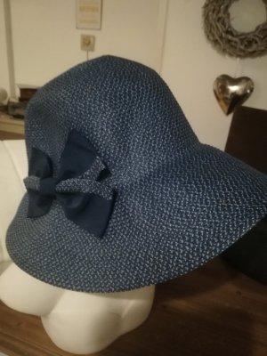 Seeberger Sombrero de ala ancha azul oscuro