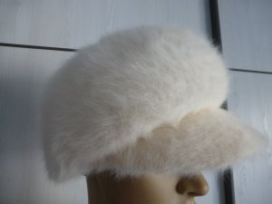 Seeberger Chapeau en laine blanc cassé mohair