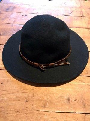 Cappello di lana nero-marrone Lana