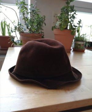 Sombrero de fieltro marrón-marrón oscuro