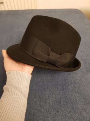 Seeberger Wollen hoed zwart