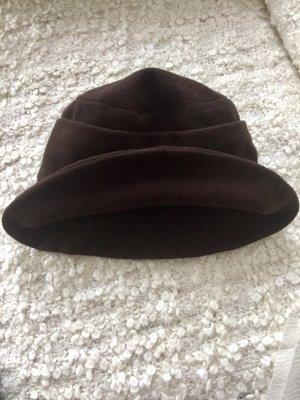 Wełniany kapelusz brązowy Wełna