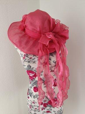 Kapelusz przeciwsłoneczny malina-różowy