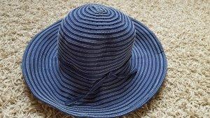 Sombrero de ala ancha azul