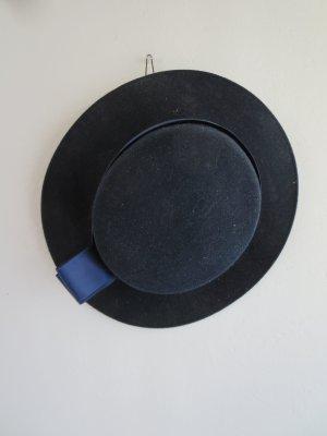 Vintage Cappello di lana blu scuro Lana