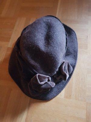 Vilten hoed zwart bruin