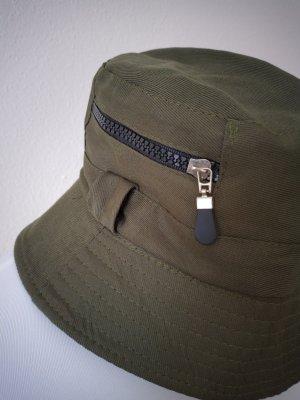 Bucket Hat dark green-olive green