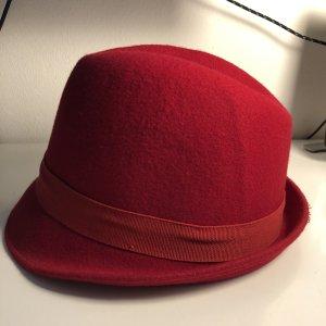 Folkloristische hoed donkerrood