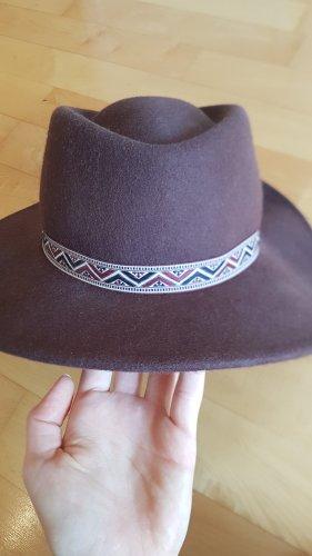Asos Chapeau en feutre brun tissu mixte