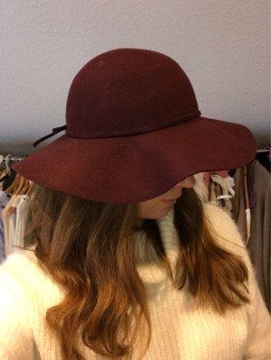 H&M Chapeau en feutre rouge framboise