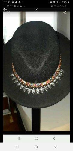 Zara Wollen hoed zwart