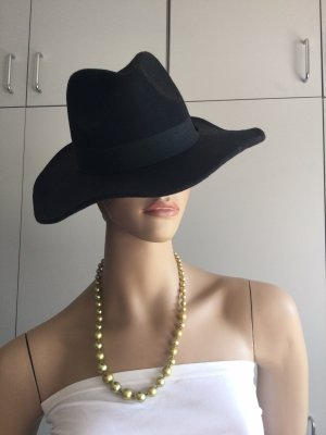 Chapeau en feutre noir feutre
