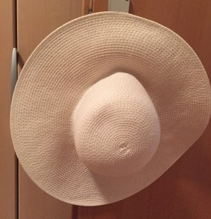 Hallhuber Sombrero de ala ancha blanco