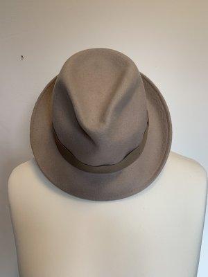 Uterqüe Chapeau en feutre crème laine