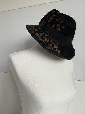 Diesel Cappello di lana nero-arancione chiaro