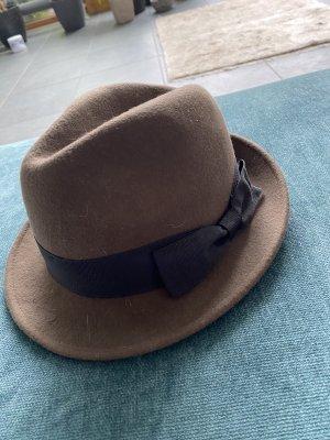 French Connection Wollen hoed grijs-bruin-zwart