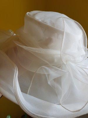 Sombrero de ala ancha blanco Poliéster