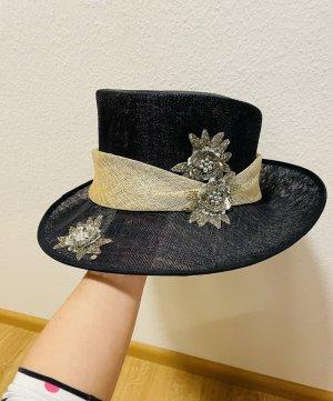 Gräfin Diana Bernadotte Straw Hat dark blue-silver-colored