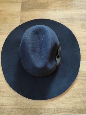 H&M Chapeau en feutre noir-bleu foncé