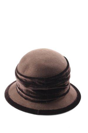 Hut Hölscher Mode Chapeau en tissu brun style décontracté