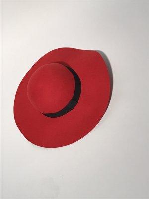 C&A Chapeau en feutre rouge