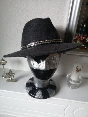 Lana Wełniany kapelusz srebrny-szary Wełna