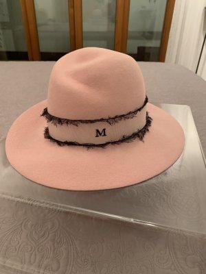 Sombrero de lana color rosa dorado Piel