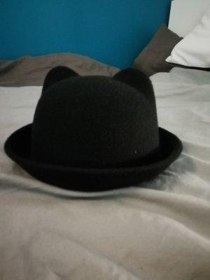 Chapeau en feutre noir polyester
