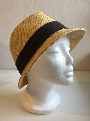 keine Cappello parasole beige-marrone scuro